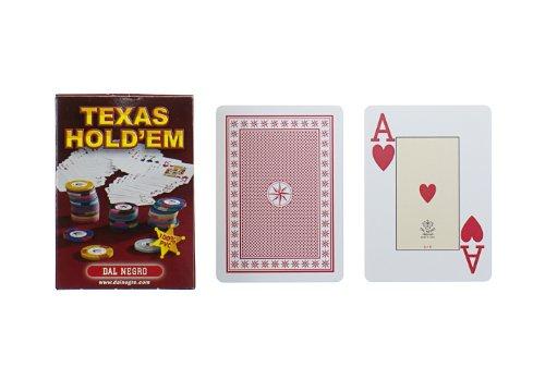 Dal Negro 21019 - Texas Hold'Em Astuccio Rosso, Carte da Gioco