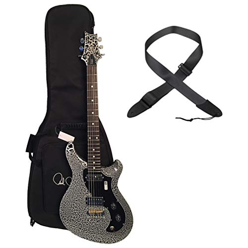 PRS V2H2-HSIDP Vela Black/White/Black Crackle Finish Electric Guitar w/Bag and