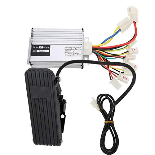 DAUERHAFT Controlador de Accesorios Controlador de Cepillo de aleación de Aluminio Pedal de Pedal Controlador de Bicicleta eléctrica, para Bicicleta eléctrica