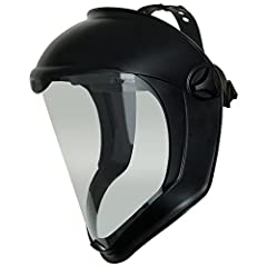 Full shield design provides built-in chin protection and extended top-of-head coverage; protects against falling or flying objects, impacts, chemical splashes and airborne debris; black matte color Excellent optics provide increased visibility; clear...