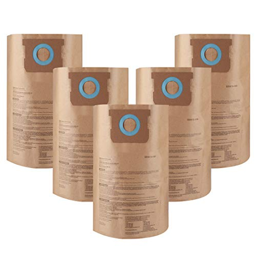 Yours 6 to 10 Gallon Filter bag Replacement for DXVA19-4101 (5 Packs)
