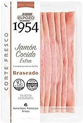 ElPozo Jamón Cocido Extra Braseado Artesano, 120g