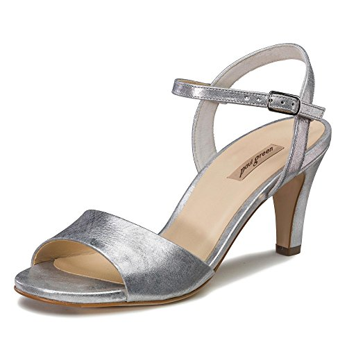 Paul Green Damen Sandaletten 7151 7151-022 Silber 435208