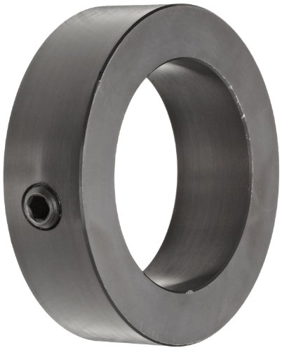 Climax Metal C-031-BO Shaft Collar, One Piece, Set Screw Style, Black Oxide Plating, Steel,, Steel, 5/16