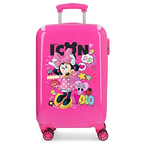 Disney Minnie Icon - Maleta de cabina rígida, 55 cm, Rosa