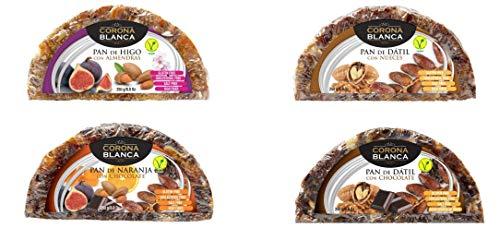 Panes De Frutas 250gr Pack (Higo,Datil,Naranja,Datil Chocolate)