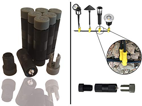 Modtek Low Voltage High Performance Piercing Connectors for Landscape Lights, Cable Connector for14-16 Gauge Wire - 12pc