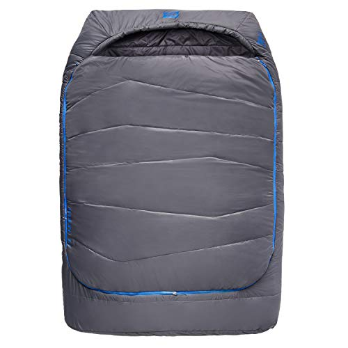 Kelty Tru.Comfort Doublewide 20 Degree Sleeping Bag – Two Person Synthetic Camping Sleeping Bag for Couples & Family Camping, Dark Shadow