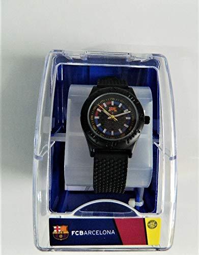 Fc Barcelone Reloj Infantil para niño Azul Deporte fútbol fútbol