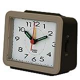 Reloj de mesa Pequeño Reloj de Escritorio con Pilas de la luz de la Noche for no tictac Dormitorio Alarma Snooze silencioso Cuarzo Simple Easy Set