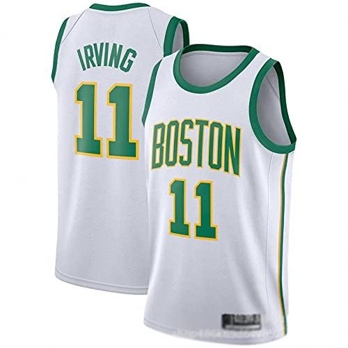 JFIOSD NBA Hombre Jersey,Celtics n#11 Irving Ropa de Baloncesto,Camisetas Al Aire Libre Casual Mujer Redondo CháNdales,C2,XXL