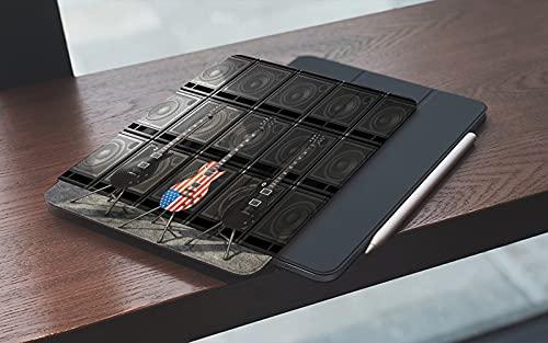 MEMETARO Funda para iPad 10.2 Pulgadas,2019/2020 Modelo, 7ª / 8ª generación,Tres Guitarras al Estilo Estadounidense, Dos Negras Smart Leather Stand Cover with Auto Wake/Sleep