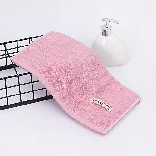 CMZ Toallas Gruesas absorbentes corrugadas a Rayas Toalla de algodón Pareja Simple de Color sólido Diario (34x73cm)