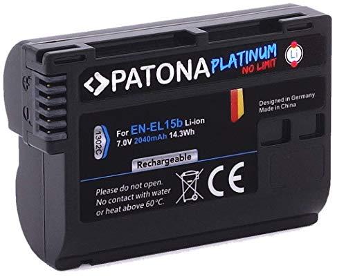 PATONA Platinum - Ersatz für Akku Nikon EN-EL15b (2040mAh) Nikon D780 Z6 Z7 etc.