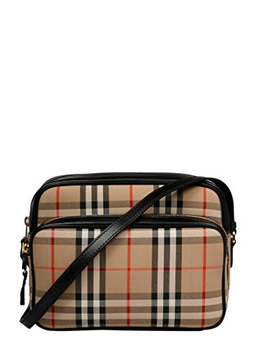 BURBERRY 45% POLYESTER,55% COTTON SHOULDER BAG BURBERRY, COTTON 55%, POLYESTER 45%, color BEIGE, Measurements 24x17x10cm, Shoulder Strap 48cm, FW19, product code 8019377 Express shipping with taxes and duties included + Free returns within 14 days