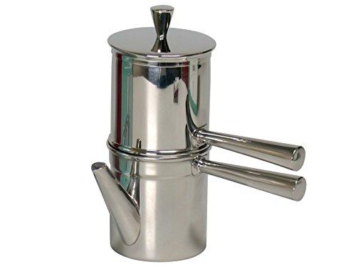 Ilsa Napoletana Kaffeemaschine, Edelstahl, Silber, für 6 Tassen