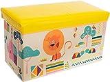 2 in 1 morbida panca su cui sedersi e cesta portagiochi per bambini, sia per maschi che per femmine