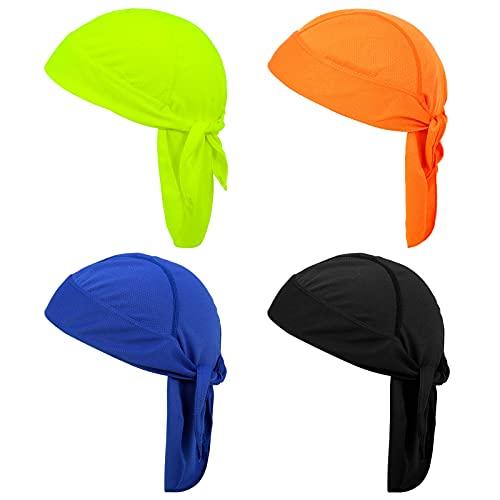 FANTESI 4 unidades de bandana de deporte, pañuelo para la cabeza, transpirable y de secado rápido, protección UV, bandana para bicicleta, para hombres y mujeres, deportes al aire libre