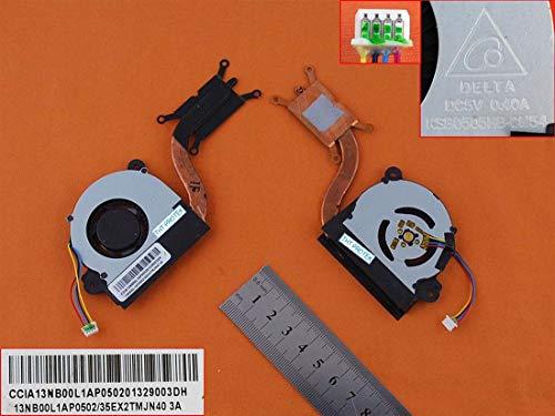Kompatibel für ASUS VivoBook X201E, F201E Lüfter Kühler Fan Cooler Version 2 mit Kühlkörper