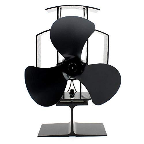 waysad Ventilador de Chimenea eléctrico para Chimenea - Portátil Extremadamente silencioso sin Fuente de alimentación Protección contra sobretemperatura Ahorro de energía ecológico Ahorro de energía