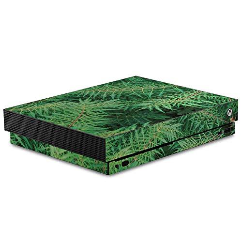 DeinDesign Skin kompatibel mit Microsoft Xbox One X Aufkleber Folie Sticker Farn Wald Forest
