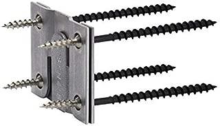 Rok Hardware Heavy Duty Interlocking Flush Mount Z Clip Bracket for Headboards, Picture Frames ROKZCLIP (2 Pair)