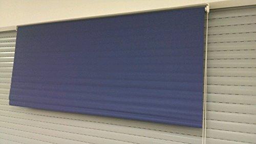 DECOSOL XXL Fenster Rollo aus Textil 180cm x 180cm (BxH) Dunkelblau Aus Textil