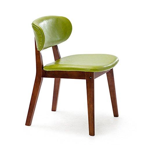 ZHANGRONG- Chaises en bois massif à manger chaise adulte fauteuil enfant -Tabouret de canapé (Couleur : Vert, taille : 1002)