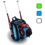 Large Capacity Baseball/Softball Stingray Backpack with Helmet Holder | Adult/Youth/Kids Boys/Girls | Catchers Gear |Fence Hook |Multi Pockets |Bat Equipment Bag for Batting Gloves |T-Ball Sports Pack