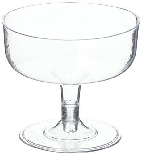 12x plástico transparente desechables copas de cóctel Margarita-180ml, 6.3oz