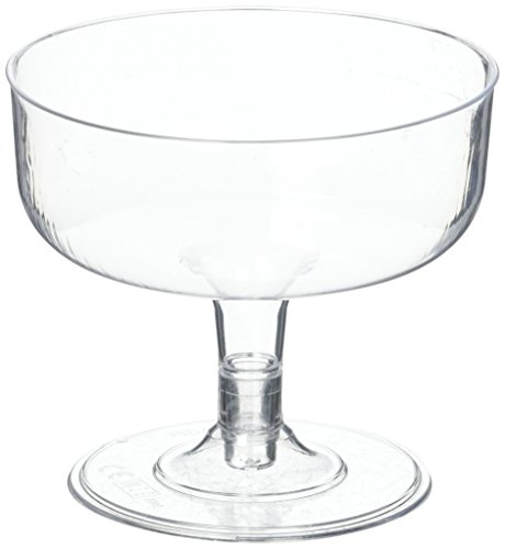12 coppe da cocktail, Monouso, In plastica trasparente, Per feste cocktail, Da 180 ml, 180 g