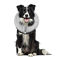 【Scratch and Bite Resistant】The inflatable collar is designed to protect your pets from injuries, rashes and post surgery wounds, which will prevent pets from biting and licking their injured area or surgical site and promote recovering from surgery ...