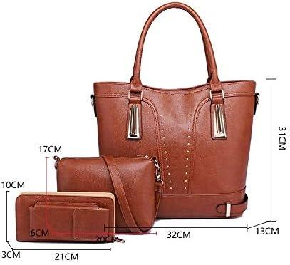 XGQ 3 en 1 épaule PU Sac Casual Ladies Sac Messenger Bag (Noir) (Color : Red) Blue