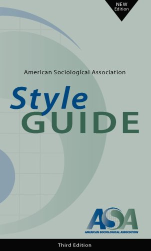 American Sociological Association Style Guide, 3rd Edition