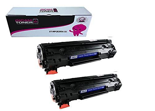 GICAM TONER 85A X 2 Tóner Compatible con HP CE285A Alto Rendimiento Válido para Impresoras: Laserjet P1102 P1102w M1132 MFP Laserjet Pro M1212 MFP Laserjet Pro M1210 Laserjet Pro M1217nfwMFP