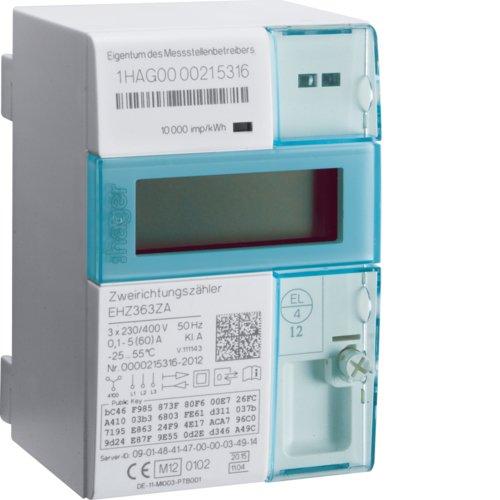 Preisvergleich Produktbild Hager EHZ363ZA eHZ EDL DS-Zweirichtungs- zähler, Kl.A