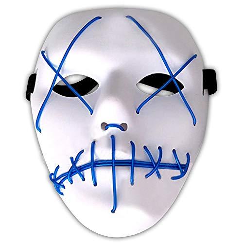 Amasawa LED Máscaras Adultos Cosplay Sin Batería con 4