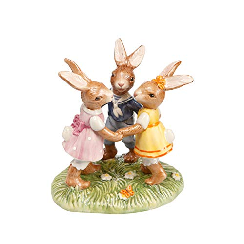 Goebel - Coniglio pasquale in porcellana, multicolore, 11,5 x 8,5 x 12,5 cm