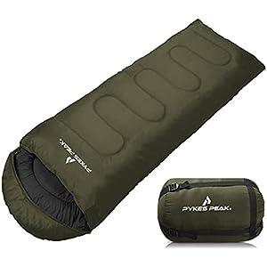 【公式】PYKES PEAK 寝袋 封筒型【シーンに合った対応温度で選べる】5色 シュラフ 丸洗い可能 キャンプ アウトドア