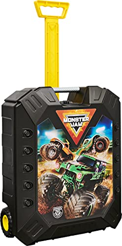 Monster Jam, Carrying Case for up to 15 Official 1:64 Scale Monster Truck Die-Cast Vehicles