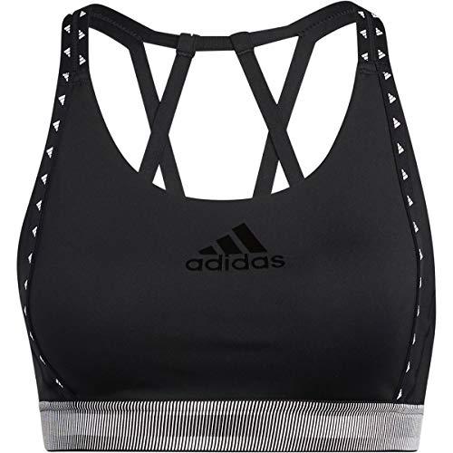 adidas Frauen DRST Branded B Trainings-BH - mittlere Unterstützung, Black, M