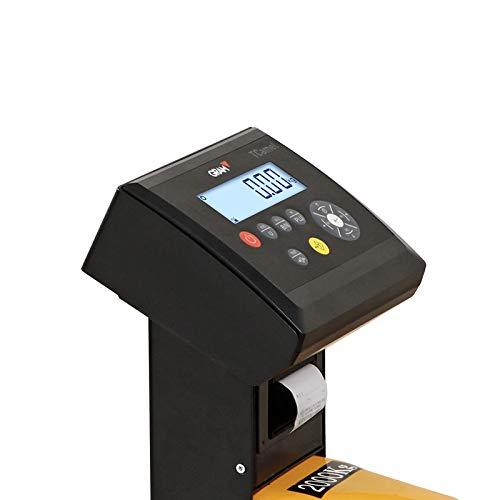 Transpaleta con bascula para palets 2000Kgx1Kg con Impresora