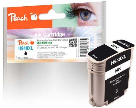 Peach Tintenpatrone schwarz kompatibel zu HP No. 940XL, C4906AE