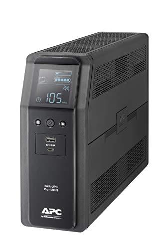 APC by Schneider Electric Back UPS PRO BR1200SI Gruppo di Continuità UPS, 1200VA, 8 Uscite IEC, Interfaccia LCD, Onda Sinusoidale Pura in Uscita