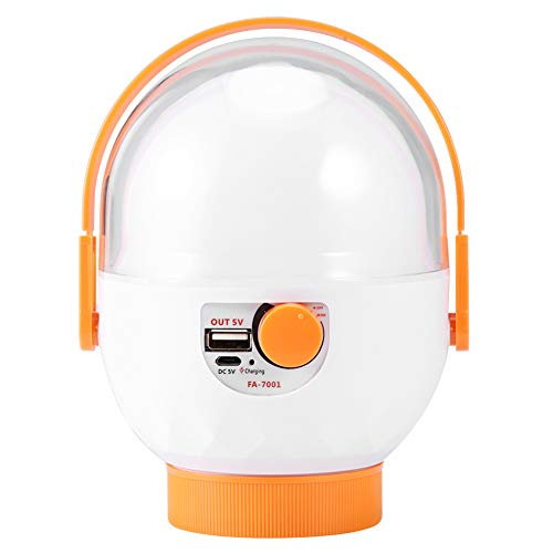 Nannday Luz de Camping Recargable USB, luz de Emergencia Naranja, para iluminación de Emergencia Pesca Camping Senderismo Caza Montañismo