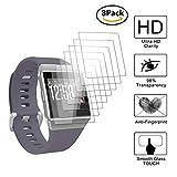 Guran [8 Stück] Bildschirmschutzfolie für Fitbit Ionic Health und Fitness Smartwatch Volle Abdeckung Weicher Kompatibel Anti-Fingerprint HD Klar Schutzfolie Film