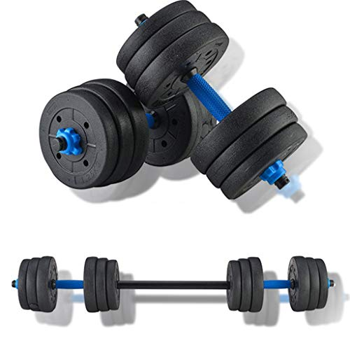 Adjustable Fitness Dumbbells Set, Free Weights Dumbbells Set Can Be Used As Barbell for Home Gym Adjustable Dumbbells, 44lbs