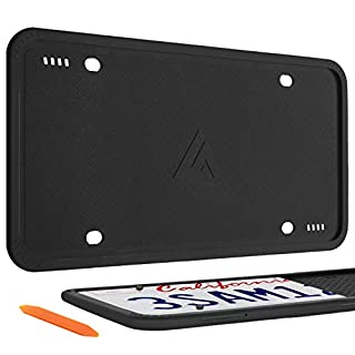 Aujen Silicone License Plate Frames, 2 Pack Car License Plate Cover, Universal US Car Black License Plate Bracket Holder.Rust-Proof, Rattle-Proof, Weather-Proof (B07YZFM2FQ) | Amazon price tracker / tracking, Amazon price history charts, Amazon price watches, Amazon price drop alerts