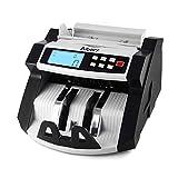 Fesjoy Caja registradora, Automático Multi-Moneda en Efectivo Billetes de Dinero Contador de Billetes Contando con Pantalla LCD de la máquina MG UV Detector de Billetes Falsos para Euro Dólar