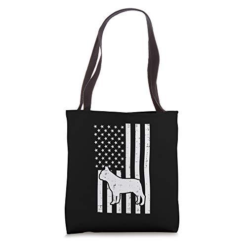 White US Flag French Bulldog Frenchie Patriotic Pet Dog Gift Tote Bag